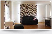 Ložnice, obývací a dětské pokoje